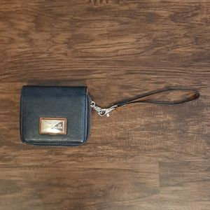 Simply Noelle Wristlet Navy and Tan and Gold